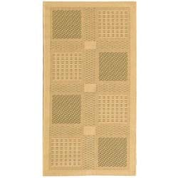 Safavieh Lakeview Natural/ Olive Green Indoor/ Outdoor Rug - 2'7 x 5' - Thumbnail 0