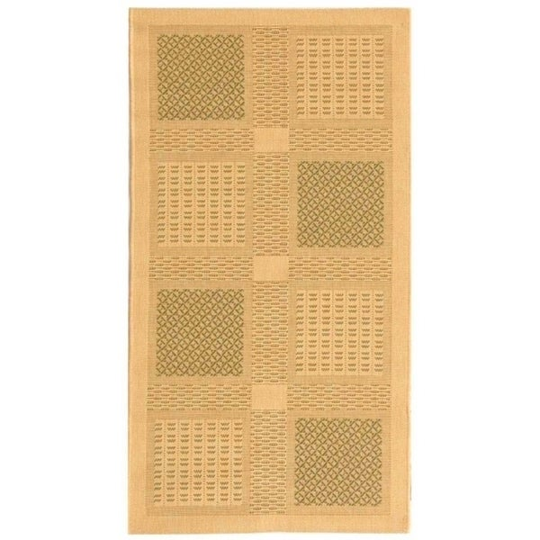 "Safavieh Lakeview Natural/ Olive Green Indoor/ Outdoor Rug - 2'-7"" x 5'"