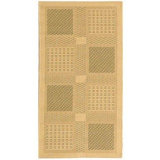Safavieh Lakeview Natural/ Olive Green Indoor/ Outdoor Rug (4' x 5'7)