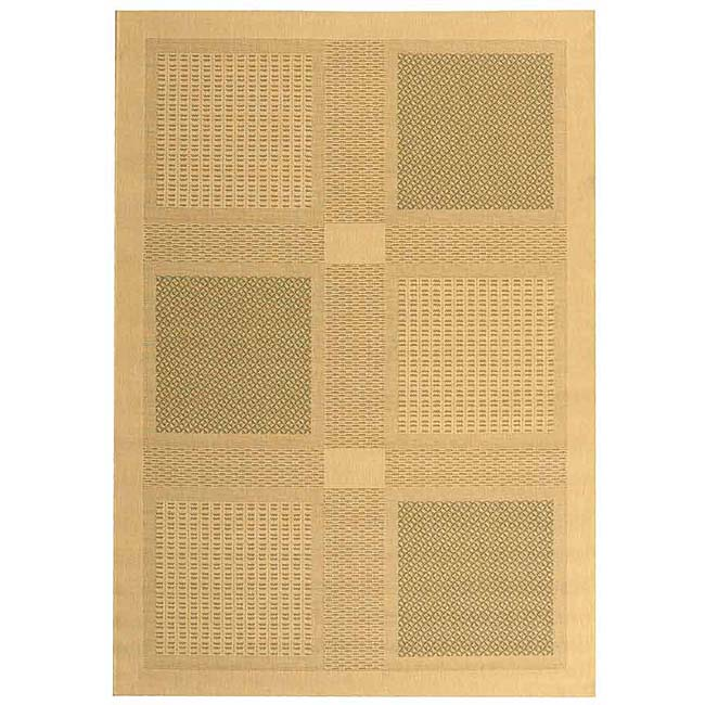Safavieh Lakeview Natural/ Olive Green Indoor/ Outdoor Rug - 5'3 x 7'7