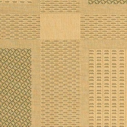 Safavieh Lakeview Natural/ Olive Green Indoor/ Outdoor Rug (5'3 x 7'7) - Thumbnail 1