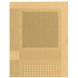 Safavieh Lakeview Natural/ Olive Green Indoor/ Outdoor Rug (5'3 x 7'7) - Thumbnail 2