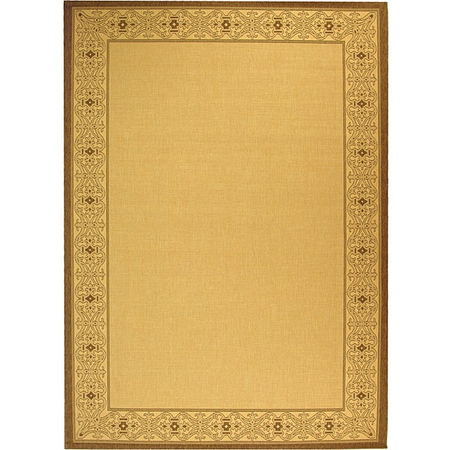 Safavieh Oceanview Natural/ Brown Indoor/ Outdoor Rug - 8' x 11'