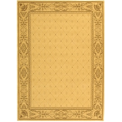 Safavieh Summer Natural/ Brown Indoor/ Outdoor Rug (6'7 x 9'6) - Thumbnail 0