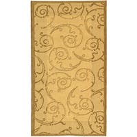 Safavieh Oasis Scrollwork Natural/ Brown Indoor/ Outdoor Rug - 2'7 x 5'