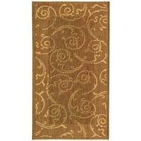 Safavieh Oasis Scrollwork Brown/ Natural Indoor/ Outdoor Rug - 2'7 x 5'