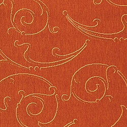 Safavieh Oasis Scrollwork Terracotta/ Natural Indoor/ Outdoor Rug (6'7 x 9'6) - Thumbnail 1