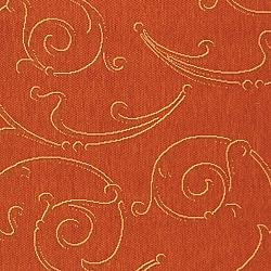 Safavieh Oasis Scrollwork Terracotta/ Natural Indoor/ Outdoor Rug (8' x 11') - Thumbnail 1