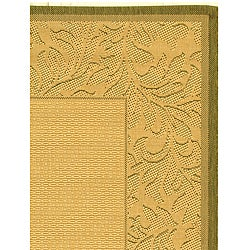 Safavieh Indoor/ Outdoor Paradise Natural/ Olive Rug (2'3 x 3'7)