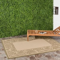 Safavieh Paradise Natural/ Olive Green Indoor/ Outdoor Rug - 6'7 x 9'6