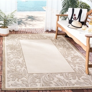 Safavieh Paradise Natural/ Brown Indoor/ Outdoor Rug (5'3 x 7'7)
