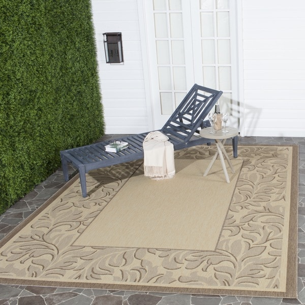 Safavieh Indoor/ Outdoor Paradise Natural/ Brown Rug (8' x 11')