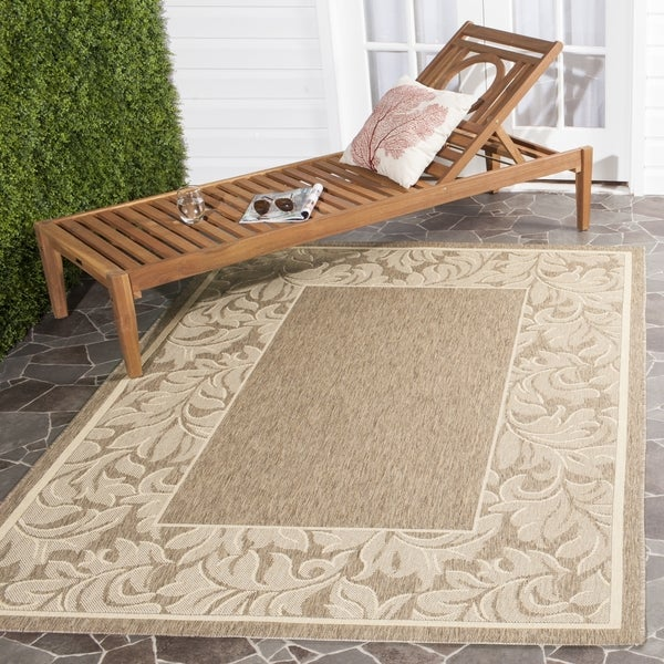 Safavieh Indoor/ Outdoor Paradise Brown/ Natural Rug (6'7 x 9'6)