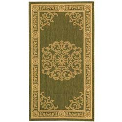 Safavieh Sunny Medallion Olive Green/ Natural Indoor/ Outdoor Rug (2' x 3'7)
