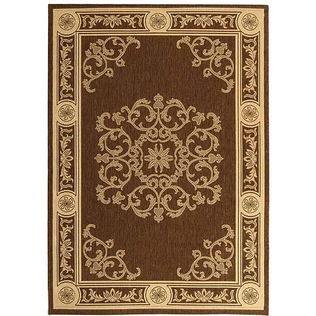 Safavieh Sunny Medallion Chocolate/ Natural Indoor/ Outdoor Rug (2'7 x 5')