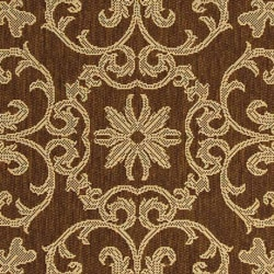 Safavieh Sunny Medallion Chocolate/ Natural Indoor/ Outdoor Rug (2'7 x 5') - Thumbnail 1