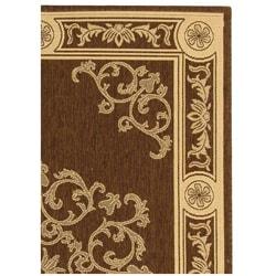 Safavieh Sunny Medallion Chocolate/ Natural Indoor/ Outdoor Rug (2'7 x 5') - Thumbnail 2