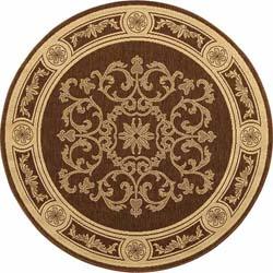 Safavieh Sunny Medallion Chocolate/ Natural Indoor/ Outdoor Rug (6'7 Round)