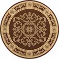 "Safavieh Sunny Medallion Chocolate/ Natural Indoor/ Outdoor Rug - 6'7"" x 6'7"" round"