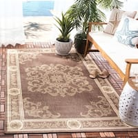 Safavieh Sunny Medallion Chocolate/ Natural Indoor/ Outdoor Rug - 6'7 x 9'6