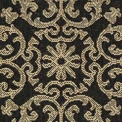 Safavieh Indoor/ Outdoor Sunny Black/ Sand Rug (2'7 x 5')