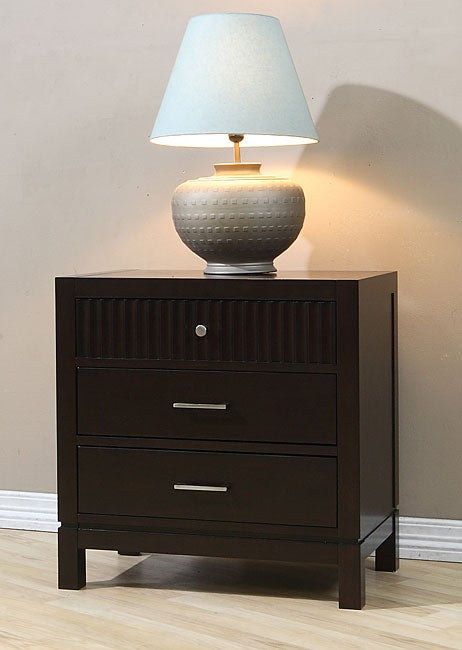 Wavelength 3-drawer Nightstand - Free Shipping Today - Overstock.com