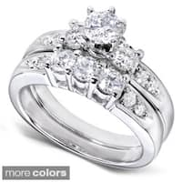 Annello by Kobelli 14k Gold 1 1/4ct TDW Diamond Bridal Ring Set