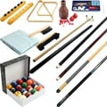 32-piece Billiard Cue Sticks and Accessories Set with Eight-foot Cover