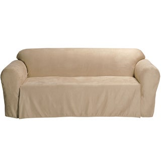 Classic Slipcovers Microsuede Solid Loveseat Drop Skirt Slipcover