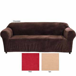 Minicord Stretch Loveseat Tight Fit Solid Slipcover
