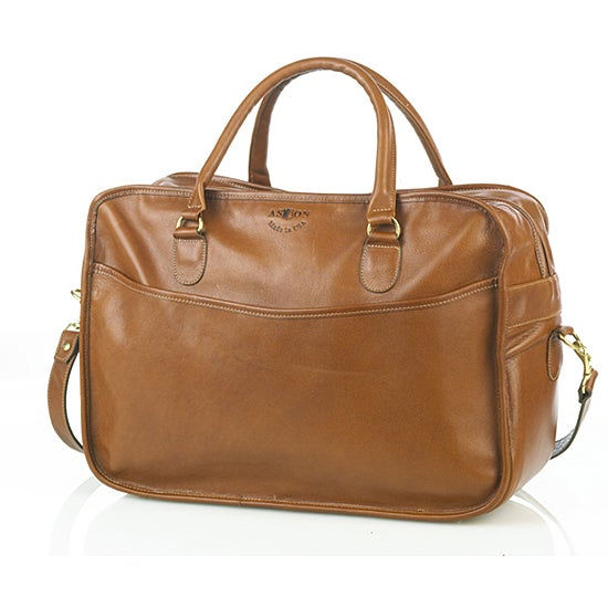 Shop Aston Leather Overnight Weekend Carry On Suitcase
