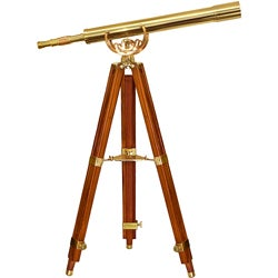BARSKA's Handcrafted Brass Telescope with Tripod