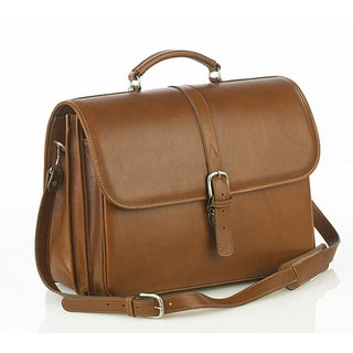 Aston Leather Executive Double Compartment Briefcase (3 options available)