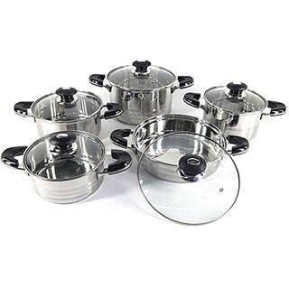 Heavy-duty 18/10 Stainless Steel 10-piece Cookware Set