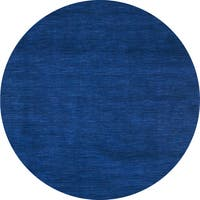 Hand-tufted Elite Casual Blue Wool Rug (6' Round) - 6' x 6'