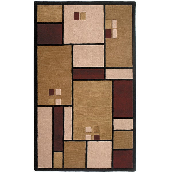 Handmade Elite Contemporary Wool Rug (5' x 8')