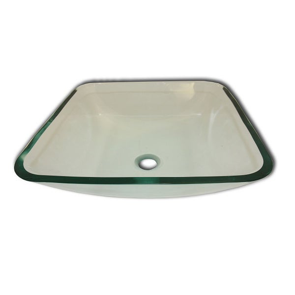 Albus Modern Glass Vessel Clear Bathroom Sink