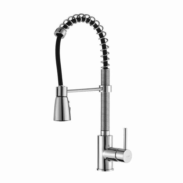 Kraus KPF-1612 Commercial Style 1-Handle 3-Function Sprayhead Pull Down Kitchen Faucet