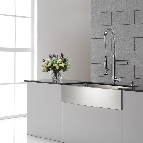 kraus kitchen faucet with pull down prerinse sprayer free shipping today