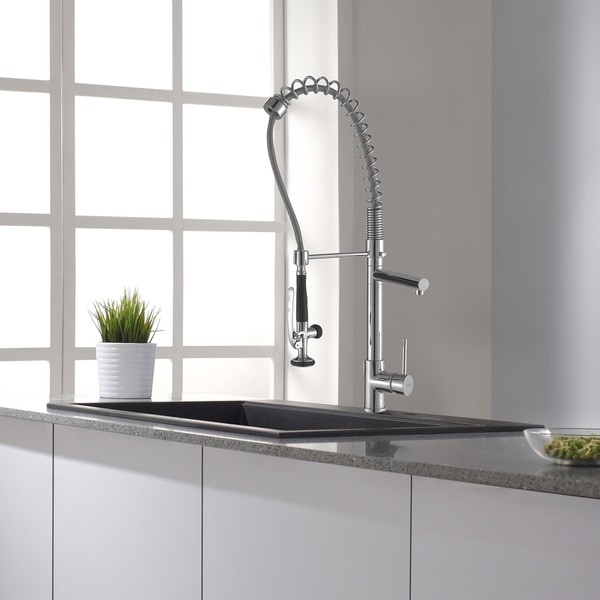 Kraus Commercial Pre Rinse Chrome Kitchen Faucet