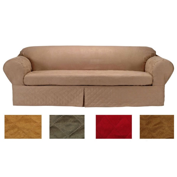 Classic Slipcovers Microsuede Quilted 2 piece Sofa