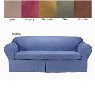 Classic Slipcovers Microsuede Quilted 2-piece Loveseat Slipcover (5 options available)