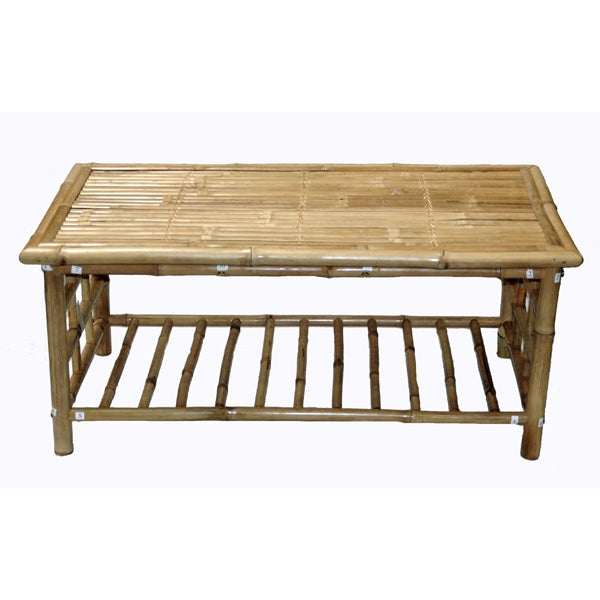Bamboo coffee table vietnam 11346236 overstock com shopping