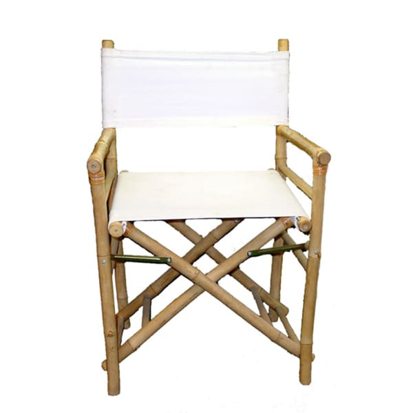 Handmade Set Of 2 Bamboo Directoru0026#x27;s Chairs (Vietnam)