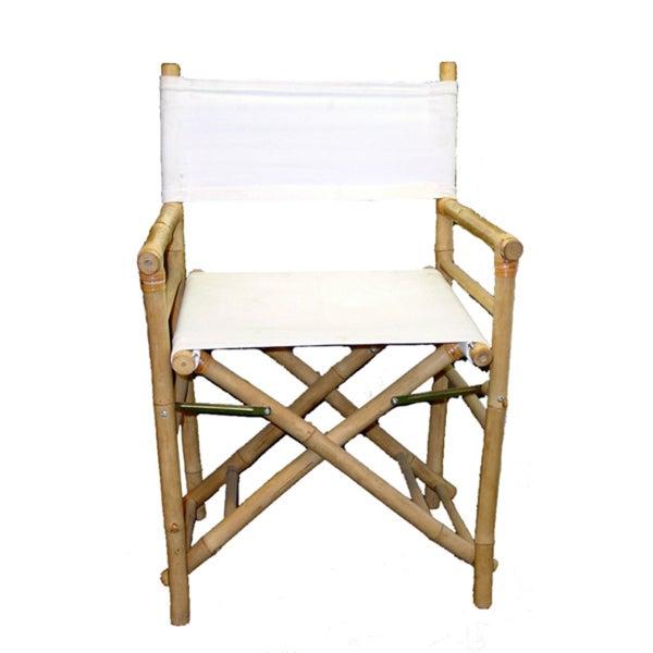 Handmade Set of 2 Bamboo Director's Chairs (Vietnam)