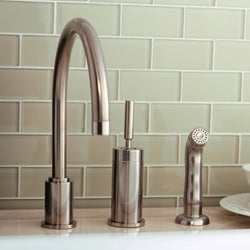 Concord Satin Nickel Brass Kitchen Faucet Free Shipping Today Overstock C