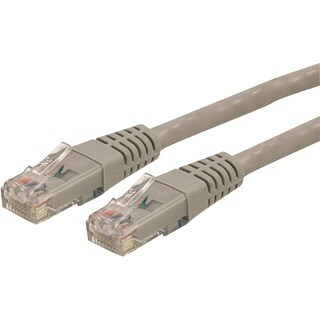 StarTech.com 50 ft Gray Molded Cat6 UTP Patch Cable - ETL Verified