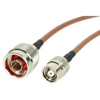 1 ft N Male to RP-TNC Wireless Antenna Adapter Cable - M