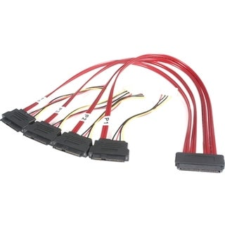 StarTech.com 50cm Serial Attached SCSI SAS Cable - SFF-8484 to 4x SFF