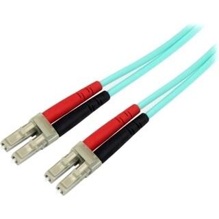 StarTech.com 1m Fiber Optic Cable - 10 Gb Aqua - Multimode Duplex 50/